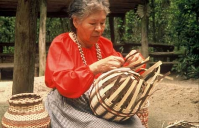 Cherokee basket maker